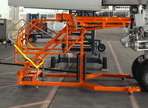 Side Angle wheel well stand