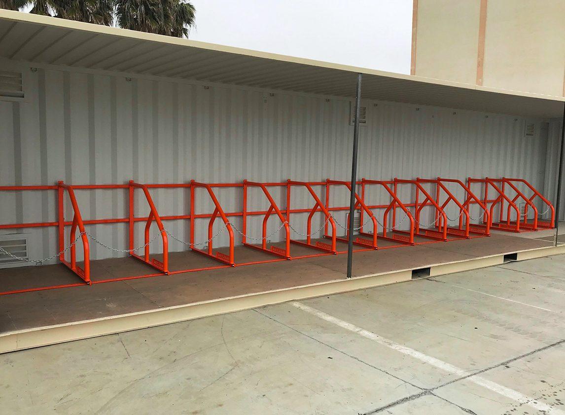 row of waag rack gse