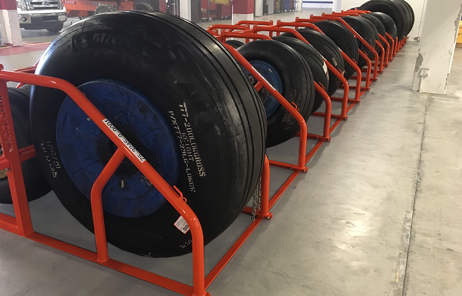 Tire Rack Ground Support Equipment